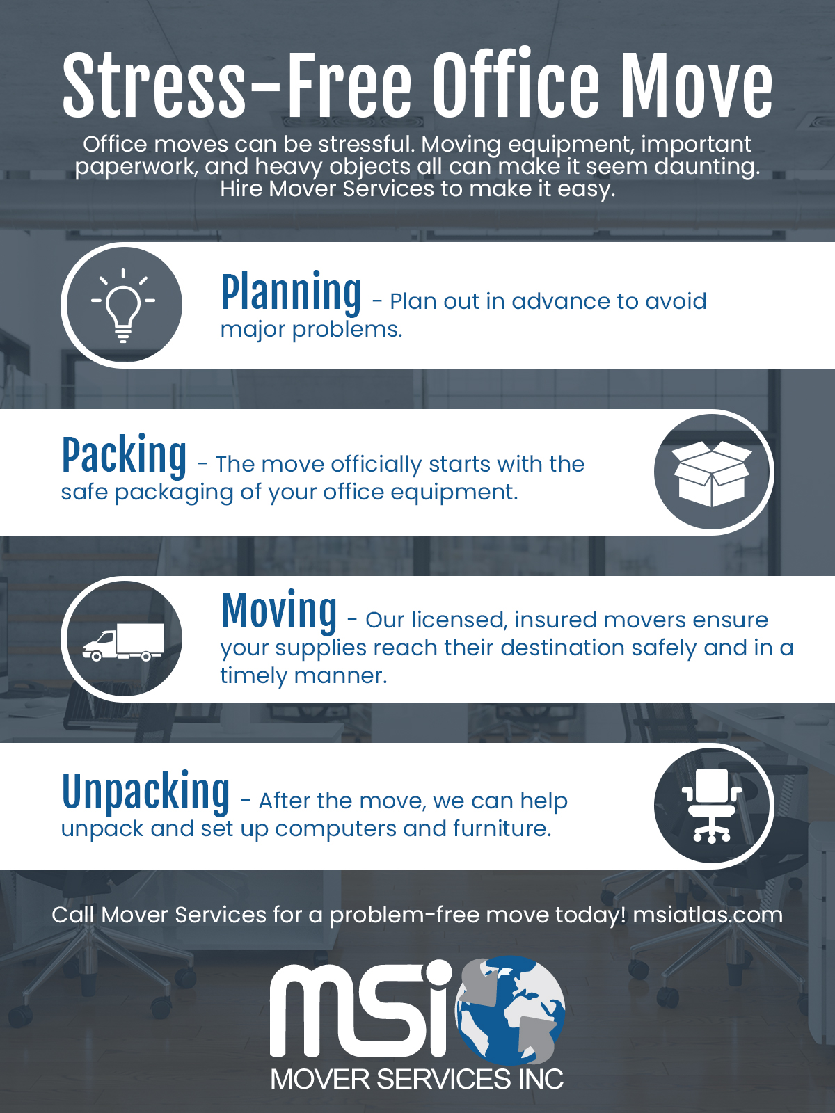 Stress-Free Office Move Infographic